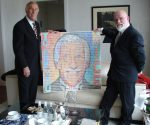 Sir Bruce Forsyth and his portrait